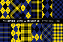 Yellow, Black And Blue Tartan ...