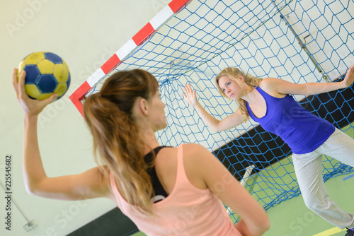 women playing handball