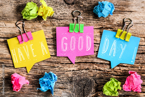 Post-it note : have a good day ! Fototapeta