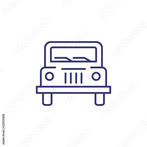 Fotografia  Jeep line icon