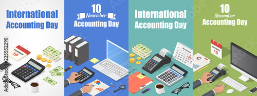 Fotomural Accounting day banner set