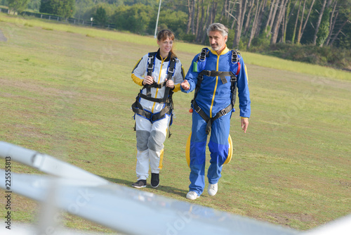 woman to go skydiving