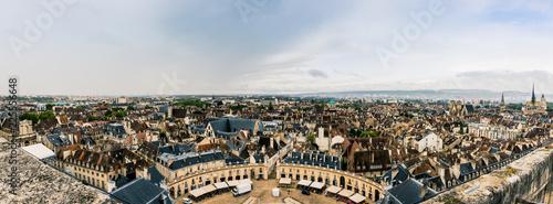 Poster Gris Panorama de Dijon du haut de la Tour Philippe Le Bon