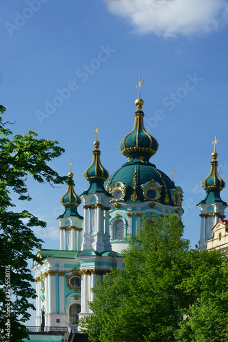 Fotobehang Temple temple with domes, church, religion, Christianity