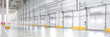 canvas print picture Huge distribution warehouse with loading gates.
