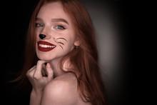 Cheerful Beautiful Redhead Gir...