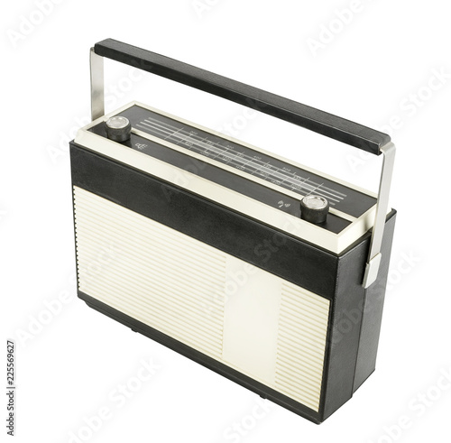 Old transistor portable radio receiver Slika na platnu