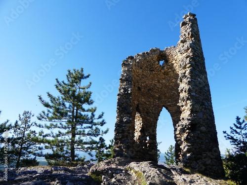 Staande foto Rudnes künstliche Ruine im Naturpark Seebenstein- Türkensturz