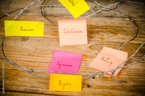Sticky notes against racism Wallpaper Mural