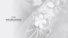 White Fabric Clothing Lace Flowers Dress Wedding Textile Pattern On Blur Background