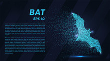 Bat Made Of Particles On A Dar...