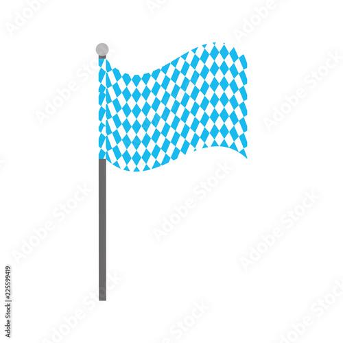 Fotografie, Obraz  bavarian flag oktoberfest symbol