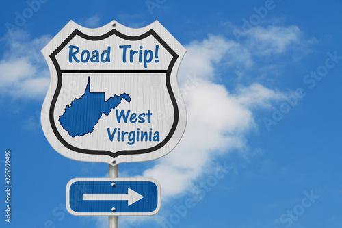 Keuken foto achterwand Verenigde Staten West Virginia Road Trip Highway Sign