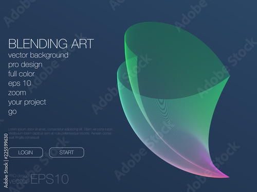 Photo  Futuristic user interface. UI Technology background vector