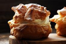 Cream Puffs. Homemade Pastry C...