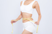 Asian Woman Diet And Slim With...