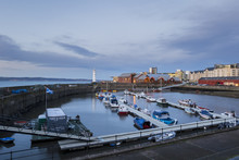 Newhaven Marina In Edinburgh At Sunset