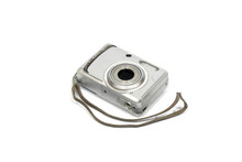 Old Digital Camera Isolated