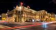 canvas print picture - Wiener Opernhaus bei Nacht