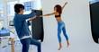 Female model posing for a photoshoot in the studio 4k