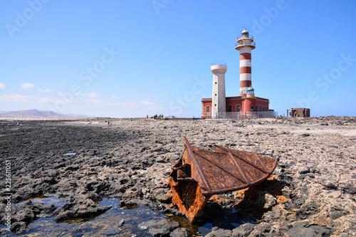Zdjęcie XXL Stara latarnia morska blisko morza