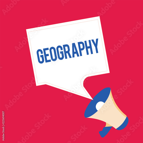 Fotografia  Writing note showing Geography
