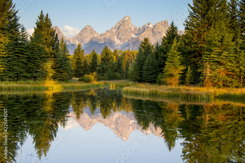 Scwabacher Landing in Grand Tetons National Park, Wyoming Canvas-taulu