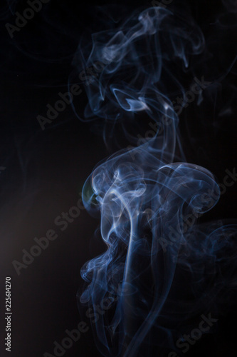 Fotobehang Rook Smoke on a black background.