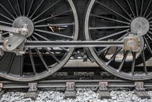 Detail Of Steam Locomotive Whe...