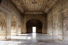 The Architecture Of Courtyards And Gardens Inside The Complex Of Agra Fort