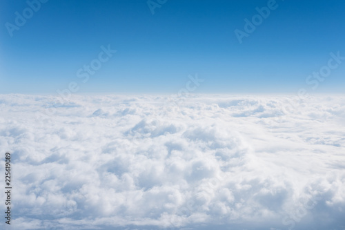 clouds  background and texture,clouds from airplane window - 225619089