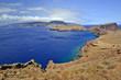 Amazing mountain and ocean nature landscape at Ponta de Sao Lourenco peninsula, Madeira island, Portugal.