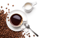 Roasted Coffee Beans And Cup O...