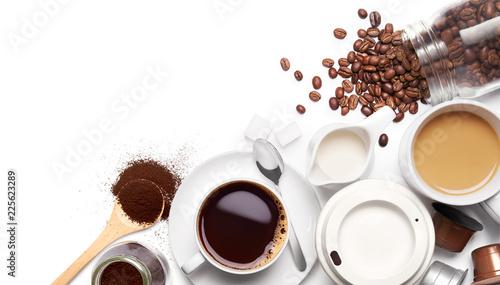 Różne rodzaje kawy i składników