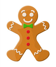 Holiday Gingerbread Man Cookie.