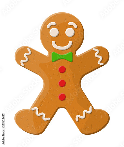 Photo Holiday gingerbread man cookie.