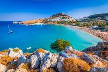 Lindos, Acropolis In Rhodes, G...