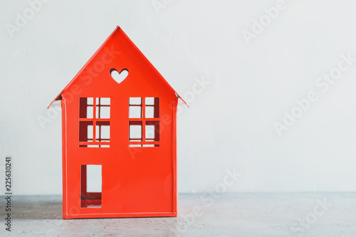 Cool Metal Red Model Of A House With A Heart The Concept Of Home Home Remodeling Inspirations Genioncuboardxyz