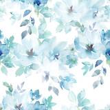 Akwarela bezszwowe wzór. Wzór w kwiaty. Ręcznie rysowane akwarela ilustracja - 225630428