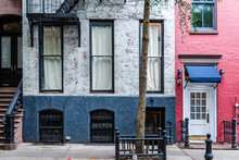 Old Greenwich Village Apartment Buildings In New York