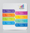 Abstract 8 steps infographic element chart for data presentation. EPS 10.