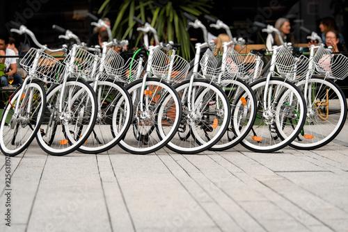 In de dag Fiets Bicycles on Stocholm`s street