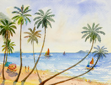 Painting Watercolor Seascape O...