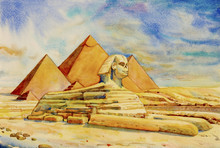 The Great Pyramid With Deser...