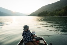 Fisherman Fishing In The River