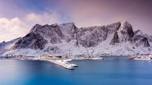 Winter Landscape, Hamnoy, Moskenes, Lofoten Islands, Norway