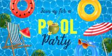 Pool Party Invitation Vector I...