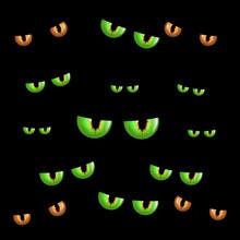 Spooky Eyes.  Vector Illustrat...