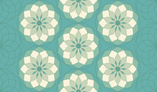 Seamless Pattern In Blue Shades