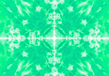 Green Kaleidoscope Pattern Background